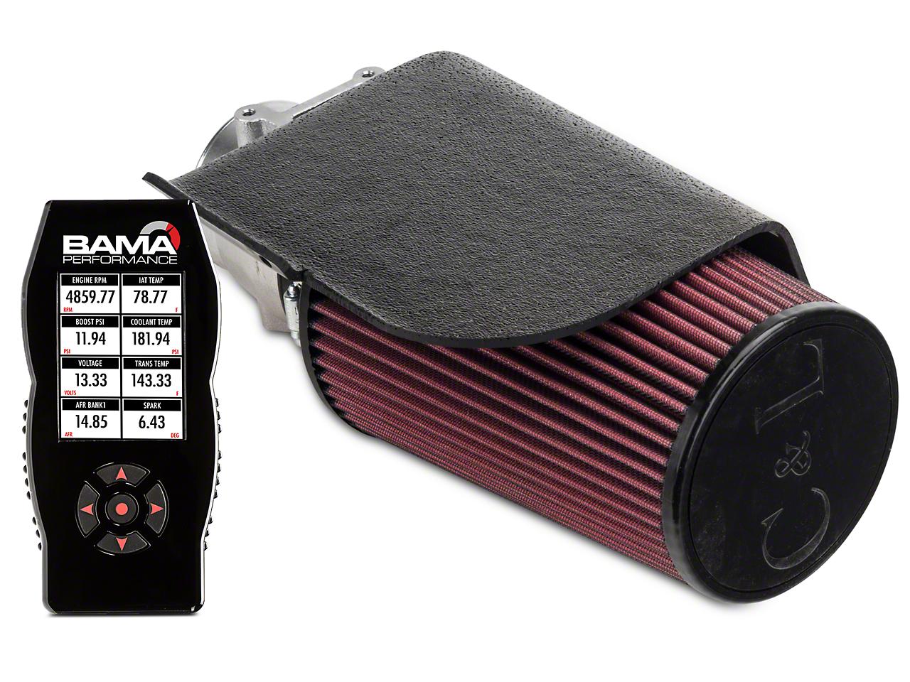 C&L Short Ram Air Intake w/ 80mm MAF & Bama X4 Tuner (96-01 GT, Bullitt)