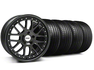 TSW Valencia Matte Black Wheel & Falken Tire Kit - 18x8 (99-04 All)