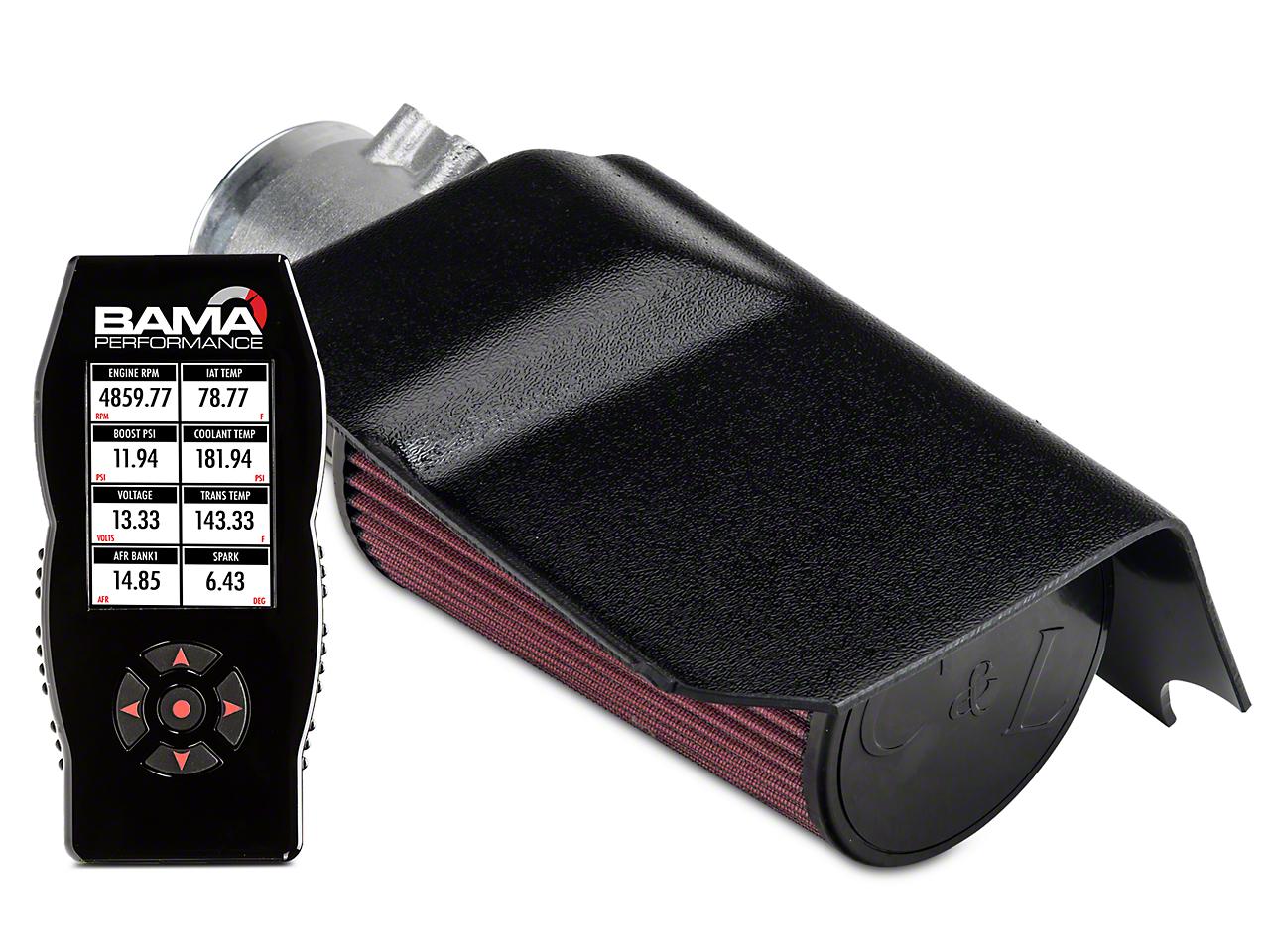 C&L Short Ram Air Intake w/95mm MAF & Bama X4 Tuner (03-04 Cobra)