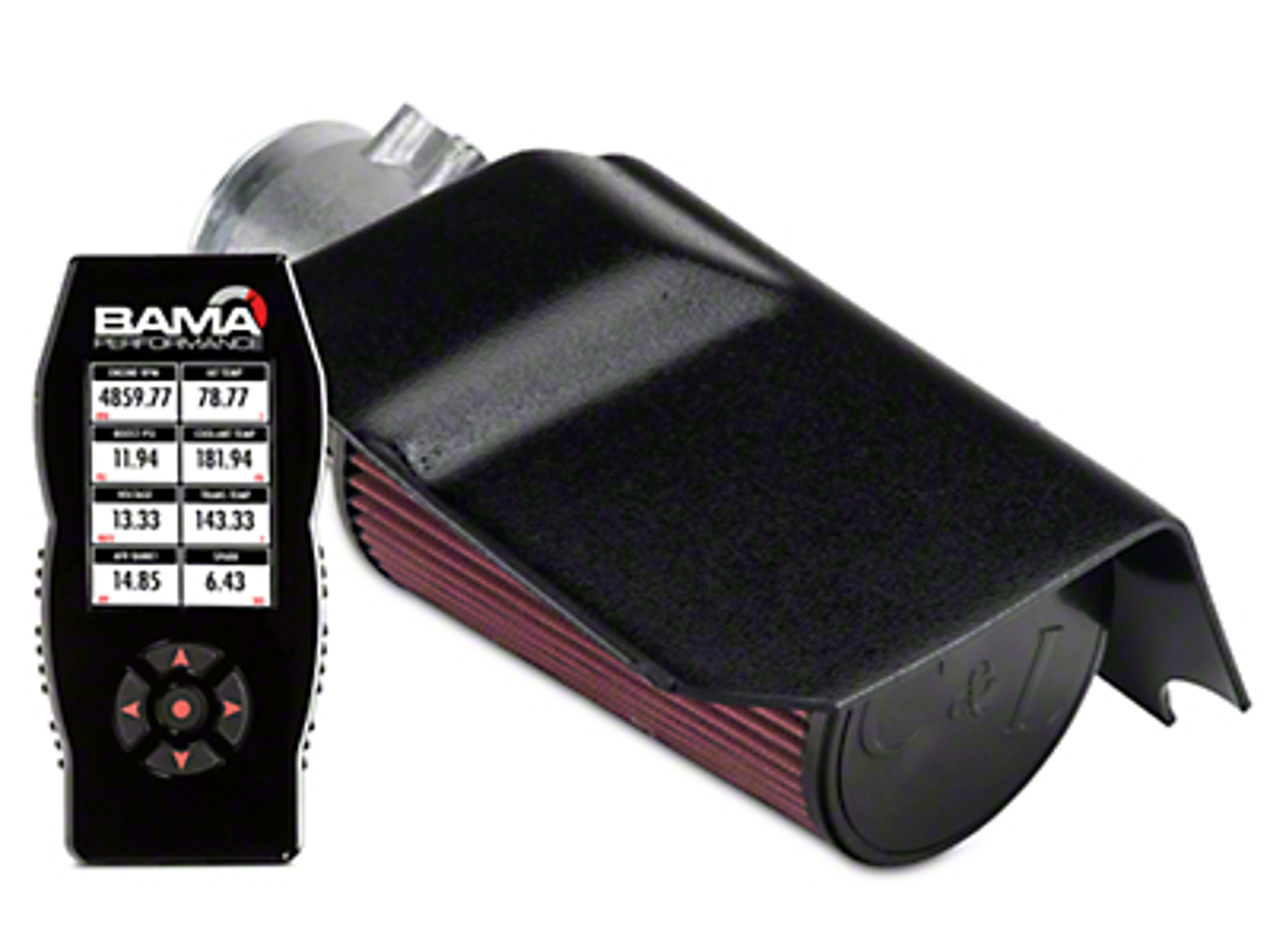 C&L Short Ram Air Intake w/ 95mm MAF & Bama X4 Tuner (03-04 Cobra)