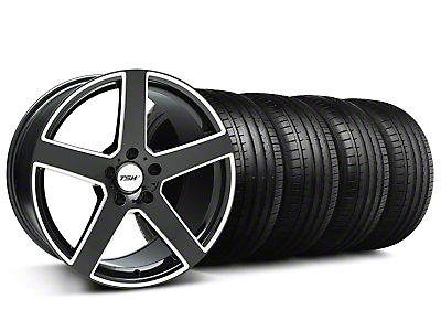 TSW Rivage Black Machined Wheel & Falken Tire Kit - 18x8 (99-04 All)