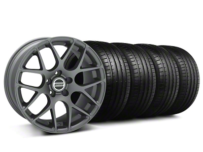 AMR Charcoal Wheel & Falken Tire Kit - 18x8 (99-04 All)
