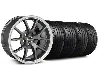 FR500 Style Anthracite Wheel & Falken Tire Kit - 18x9 (94-98 All)