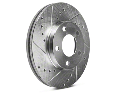 Power Stop Evolution Cross-Drilled & Slotted Rotors - Front Pair (94-04 GT, V6)