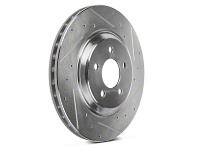 Power Stop Evolution Cross-Drilled & Slotted Rotors - Front Pair (94-04 Bullitt, Mach 1, Cobra)