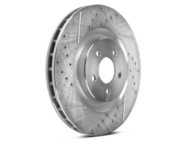 Power Stop Cross-Drilled & Slotted Front Brake Rotors (11-14 GT Brembo, 12-13 BOSS, 07-12 GT500)