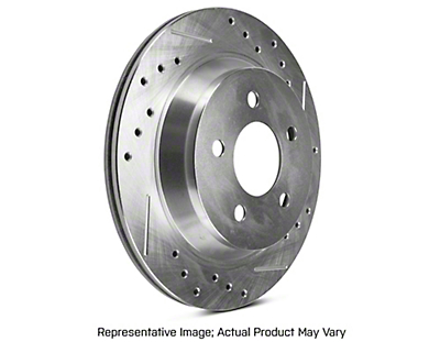 Power Stop Evolution Cross-Drilled & Slotted Rotors - Rear Pair (94-04 Bullitt, Mach 1, Cobra)