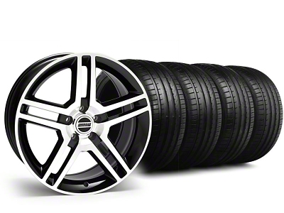 2010 GT500 Style Black Machined Wheel & Falken Tire Kit - 18x9 (94-98 All)