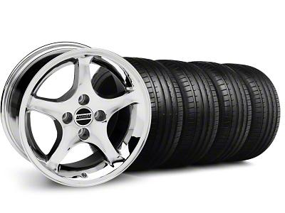 Deep Dish 1995 Cobra R Style Chrome Wheel & Falken Tire Kit- 18x9 (94-98 All)