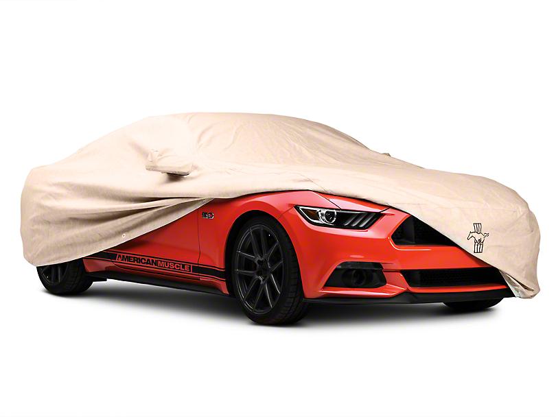 Covercraft Deluxe Custom-Fit Car Cover - Tri-Bar Pony Logo (15-17 Fastback)
