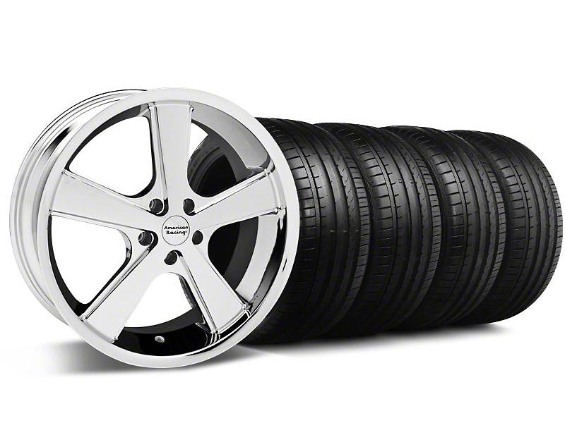 Nova Chrome Wheel & Falken Tire Kit - 18x9 (94-98 All)