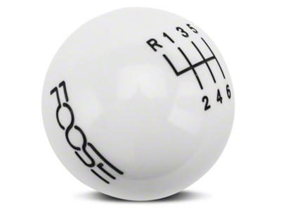 MMD by FOOSE Retro Style 6-Speed Shift Knob w/FOOSE logo - White (11-14 GT, V6)