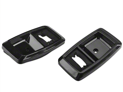 Interior Door Handle Bezels - Black Pair (87-93 All)
