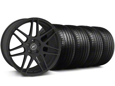 Forgestar F14 Monoblock Textured Black Wheel & Falken Tire Kit - 18x9 (94-98 All)