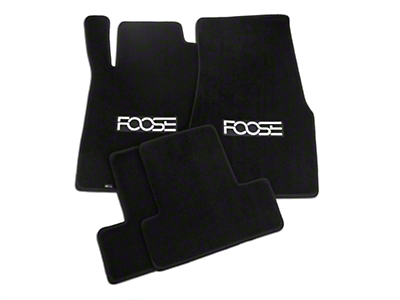 Black Floor Mats - Foose Logo (13-14 All)