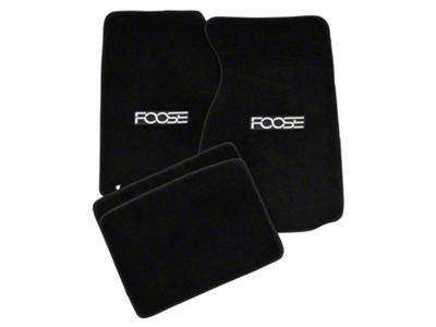 Black Floor Mats - Foose Logo (99-04 All)