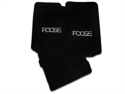 Black Floor Mats - Foose Logo - Convertible (94-98 All)