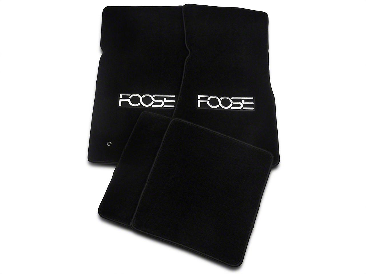 Black Floor Mats - Foose Logo (79-93 All)