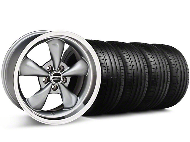 Deep Dish Bullitt Anthracite Wheel & Falken Tire Kit - 18x9 (94-98 All)