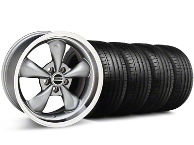 Deep Dish Bullitt Anthracite Wheel & Falken Tire Kit - 18x9 (94-98 All)