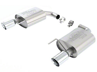 Ford Racing by Borla Touring Axle-Back Exhaust - Chrome Tip (15-17 EcoBoost)
