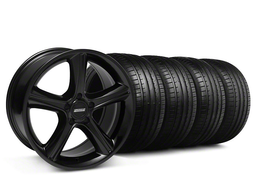 2010 GT Premium Style Black Wheel & Falken Tire Kit - 18x9 (94-98 All)