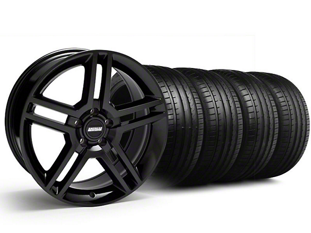 2010 GT500 Style Black Wheel & Falken Tire Kit - 18x9 (94-98 All)
