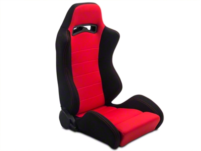 Black & Red Racing Seats - Pair (79-14 All)