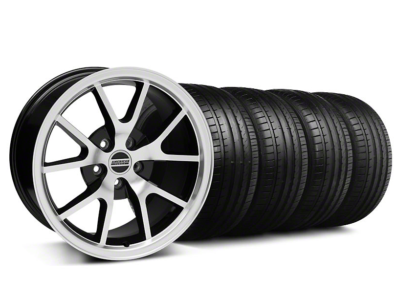 FR500 Style Black Machined Wheel & Falken Tire Kit - 18x9 (94-98 All)