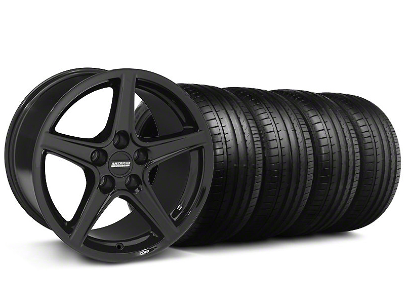 S Style Black Wheel & Falken Tire Kit - 18x9 (94-98 All)
