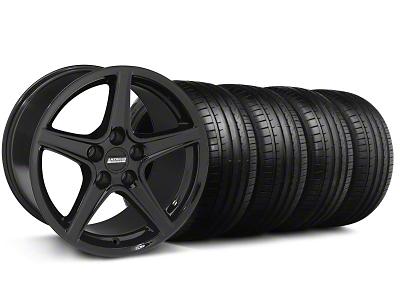 S Style Black Wheel & Falken Tire Kit - 18x9 (94-98 All)