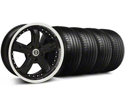 Shelby Razor Black Wheel & Falken Tire Kit - 18x9 (94-98 All)