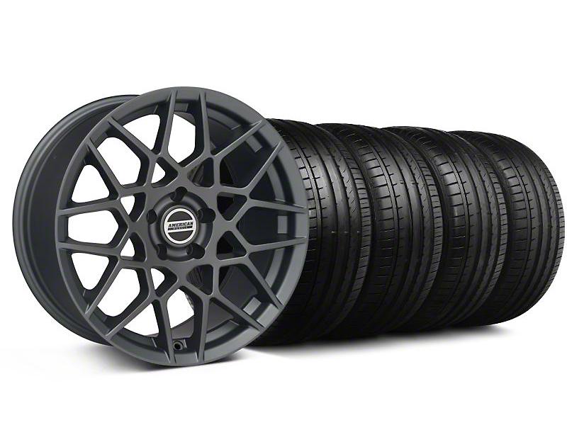 2013 GT500 Style Charcoal Wheel & Falken Tire Kit - 18x9 (94-98 All)