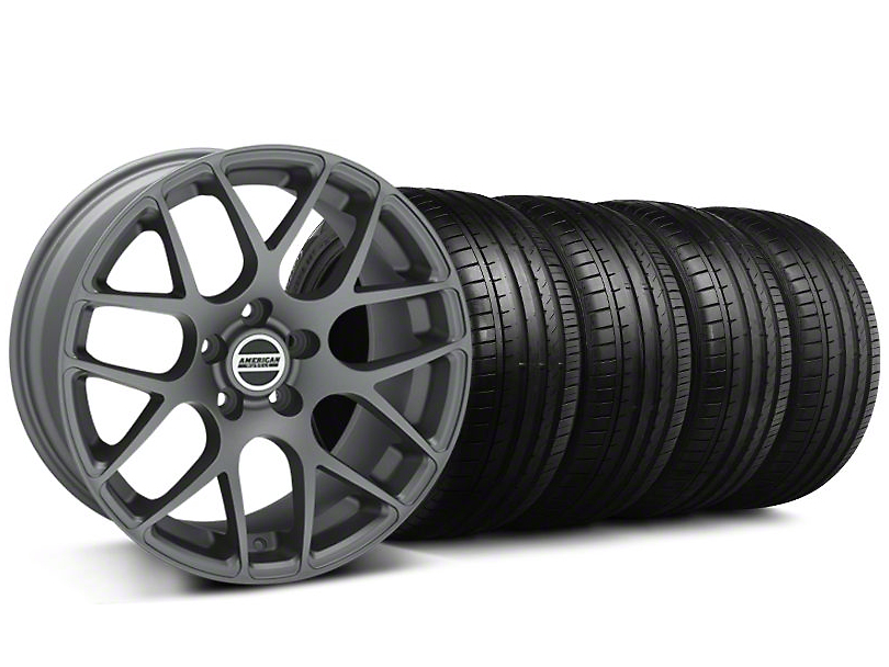 AMR Charcoal Wheel & Falken Tire Kit - 18x9 (94-98 All)
