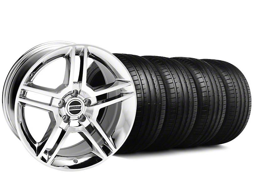 2010 GT500 Style Chrome Wheel & Falken Tire Kit - 18x9 (94-98 All)