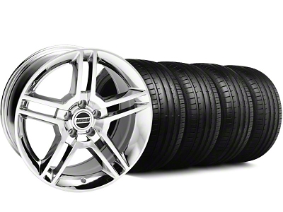 2010 GT500 Style Chrome Wheel & Falken Tire Kit - 18x9 (94-98 All)