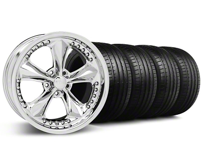 Foose Nitrous Chrome Wheel & Falken Tire Kit - 18x9 (94-98 All)