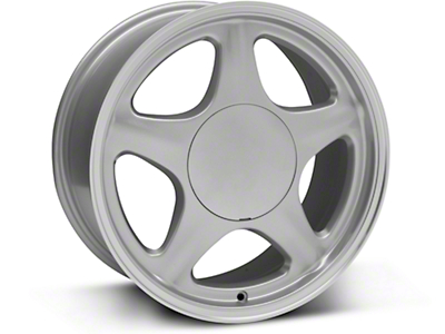 Pony Style Silver w/ Machined Lip Wheel - 17x8 (87-93: Excludes 93 Cobra)