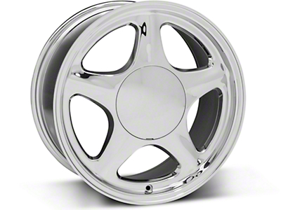 Pony Style Chrome Wheel - 17x8 (87-93; Excludes 93 Cobra)
