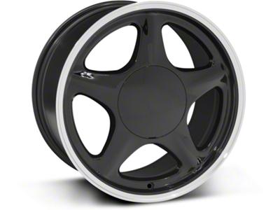 Pony Style Black w/ Machined Lip Wheel - 17x9 (87-93; Excludes 93 Cobra)
