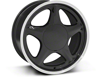 Pony Style Black w/ Machined Lip Wheel - 17x9 (87-93; Excludes 93 Cobra)