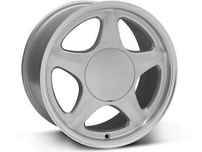 Pony Style Silver w/ Machined Lip Wheel - 17x9 (87-93: Excludes 93 Cobra)