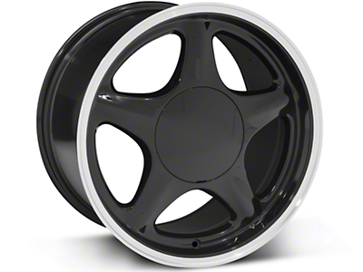 Pony Style Black w/ Machined Lip Wheel - 17x10 (87-93; Excludes 93 Cobra)
