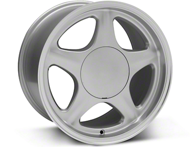 Pony Style Silver w/ Machined Lip Wheel - 17x10 (87-93: Excludes 93 Cobra)