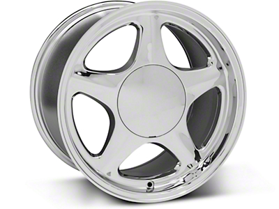 Pony Style Chrome Wheel - 17x10 (87-93; Excludes 93 Cobra)