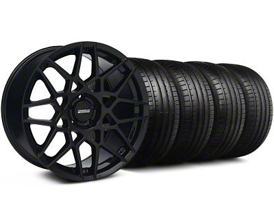 2013 GT500 Style Gloss Black Wheel & Falken Tire Kit - 18x9 (94-98 All)