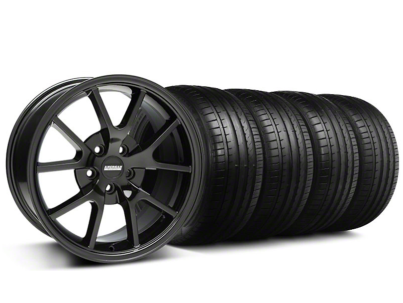 FR500 Style Gloss Black Wheel & Falken Tire Kit - 18x9 (94-98 All)