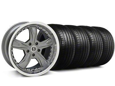 Shelby Razor Gunmetal Wheel & Falken Tire Kit - 18x9 (94-98 All)