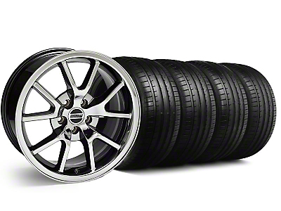 FR500 Style Black Chrome Wheel & Falken Tire Kit - 18x9 (99-04 All)