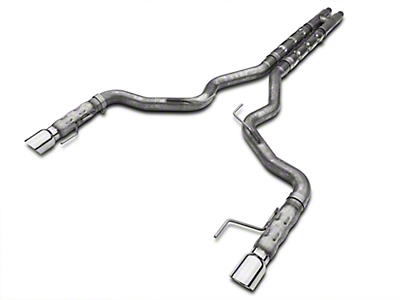 Stainless Works 3 in Retro Chambered Catback Exhaust w/ H-Pipe - Fastback (15-16 GT w/ Long Tube Headers)